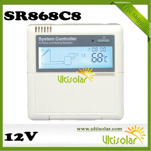 DC12V SR868C8 Solar System Pump Controller can beintegrated with solar panel system free shipping free manual 4 sensors(China (Mainland))