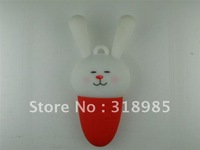 Rabbit 4GB USB Pen Drive,Free shipping 1-32GB U disk. Rubber Silicon PVC Thumbrive ,usb flash drive.100%real capacity.