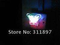 Mini Creative Colorful Butterfly LED Energy Saving Wall Night Light Nightlight Lamp Novelty Gift, EMS Shipping 200pcs/lot