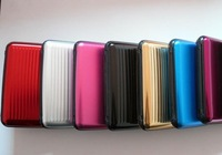 5pcs/Lot aluminium Business ID Credit Card Holder 8 colors available  hot selling