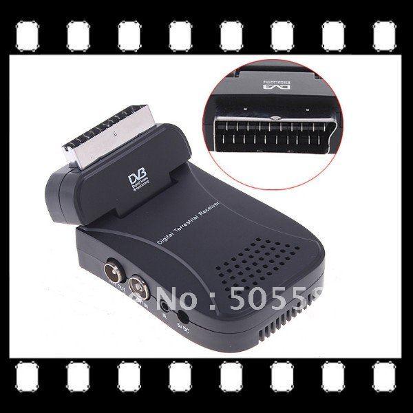 Mini Digital terrestrial receiver Scart TV Tuner Box DVB-T MPEG2 Freeview Receiver(China (Mainland))