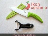 "Free Shipping! High Quality Zirconia New 100% 2-piece 6"" Scabbard Ceramic Knife and Ceramic Peeler Combination(AJ-D6001W-2G-GB)"