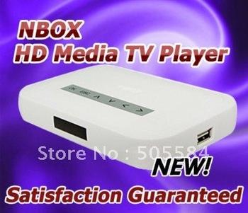 New NBOX Digital USB Hard Drive Disk HDD SD/MMC Media Player for HD TV