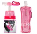 Hot Sell,480ml Portable foldable water bottle,water bladder,waterskin,Folding drinking bottle,water bag,sprot bottle