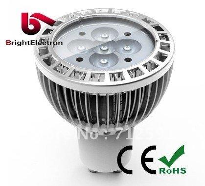 Free Shipping 5W LED GU10 replace 50W hi-spot halogen lamp, 550 lm High Brightness LED Bulb(China (Mainland))