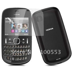 Wholesale Best Price Screen Protector Guard for Nokia Asha 200,High Quality Korea PET ,JHAG,Anti-Glare Anti-Fingerprint(China (Mainland))