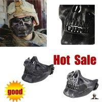 4pcs/lot Skeleton Mask 3rd . / Tactical Half Face Stee Mesh Protective Mask War Game / 4 colours(02-MK)