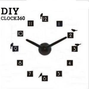 free shipping Diy clock 360 design by korea ,number ,bird butterfly(generation 2) shipping within 24 hours
