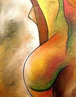 Free Shipping !! Modern Wall Art Oil  Painting On Canvas  !! Thick Texture  ytktv11