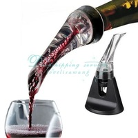 Drop Shipping/Free Shipping Wholesale Essential Set Quick Aerating Pourer Decanter Red Wine Bottle Mini Travel Aerator