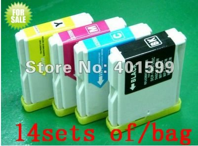 Hot sale 4 Color Wholesale Inks for Brother LC1000 LC970 LC51 LC57 DCP-135C DCP-130C MFC-240C MFC-2660CN 1pack=14sets F/Shipping(China (Mainland))