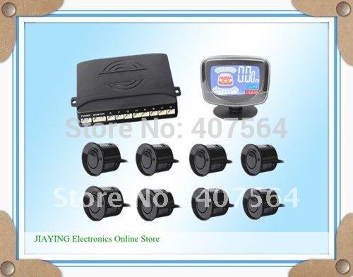 Free shipping Car LCD 8 Reverse Parking Sensors Backup Radar Kit(China (Mainland))