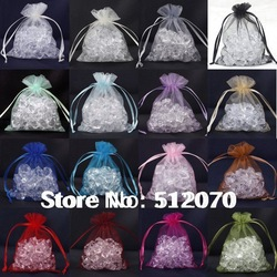 Wholesale 50pcs/Lot Mix Colour Organza Gift Pouch Bags 7x9cm High Quality Wedding Jewellery Favour Free Shipping(China (Mainland))