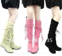 free shipping !In spring and autumn tassel in 2012 increased tube boots women's boots