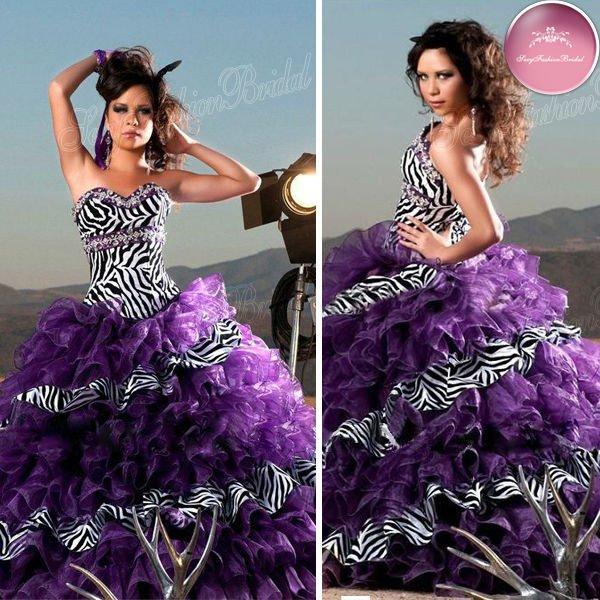 Vestidos de cebra para XV años - Imagui
