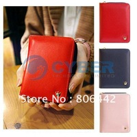 Fashion Women's Lady Girl King Tote PU Leather Clutch Wallets Handmade Card Holder Purse 5348