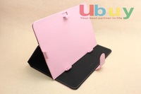 "pink color 10.1"" 10.1 inch Tablet Protective PU Leather Case Cover Multi Angle Stand for android tablet MID PC Ampe A10"