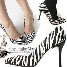 popular zebra pump heels