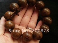 BRO993  Tibetan Wooden prayer beads wrist Malas,20mm,natural Heaven Eye wood mans bracelet