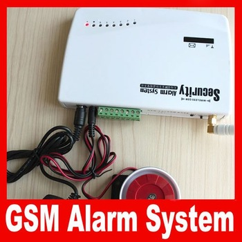 Alibaba Express Free shipping Anti-theft alarm on the phone Alarm System Deluxe Fire & Burglary Wireless GSM Cellular