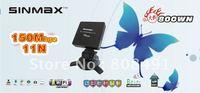 free shipping high power sinmax 880WN 36dbi 150Mbps wireless adapter wifi lan card factory price 2pcs/lot