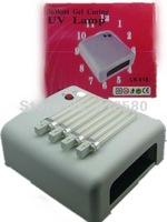 Promotion! Free shipping 36W Art Gel UV Nail Curing Polish Dryer uv lamp Light(white)