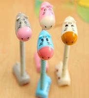 Free Shipping, 4 Colors Cartoon super-Q donkey standing ball-point pen, Cartoon pen/Fashion Ballpoint Pens, 24 pcs/lot