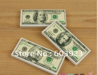2012 Creative stationery eraser cartoon school supplies dollars eraser free shipping