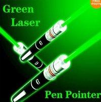 3pcs New 5mw Powerful Green Laser Pointer Pen Light Beam 532nm free ship