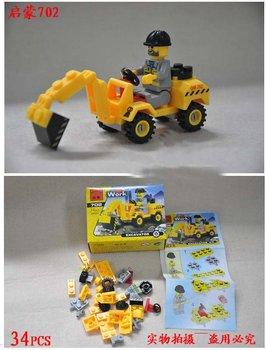 Free shipping,Educational toy , DIY plastic building block(truck ,car,police car,plane,grab) ,building crane,model building kits