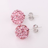 Disco Ball Bead,Shamballa Crystal Earring, Wholesale Europe Style DIY Shamballa Earring SE020