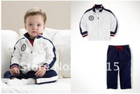 Wholesale handsome  Baby suits girls boys sport track suit coat+pants 2pcs clothing set childrens autumn clothes suits