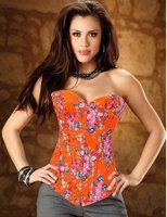 Deep bule flash and fashion overbust corset + - AB980
