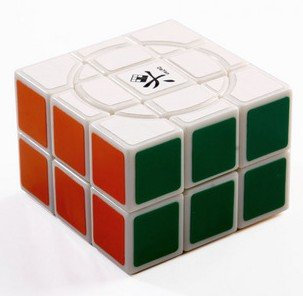 Dayan Crazy 2X3X3 Speed Cube white Magic Cube (Free US Domestic Shipping)(China (Mainland))