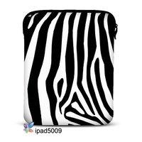 "Free Shipping,Zebra Print Shape 9.7"" Neoprene Sleeve Case Bag Soft Cover Pouch For Apple Ipad 2"