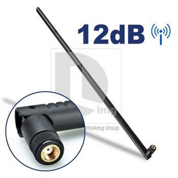 NEW 12 dBi WiFi WIRELESS ANTENNA BOOSTER AMP WLAN RP-SMA 2.4G USB PCI  free shipping