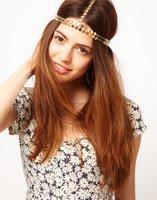 Free Shipping~~ 2012 Latest Double Scale Metal Elastic Stretchy Hairband Headband Celebrity, OY070502 (M003)
