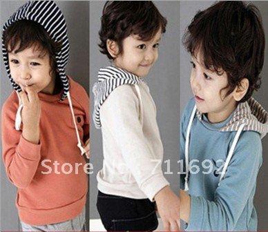 Free Shipping-New(3colors)5pcs/lot autumn classic fashion children HOODIES kids sweater boy sport coat child coat child wear(China (Mainland))