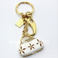 Free shipping! genuie 2GB-32GB jewelry bag USB  Flash driver with key chains crystal fashionable bag  shape  -retail & wholesale