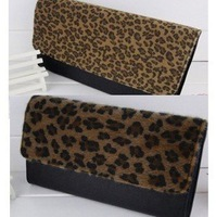2012 Hot Sale Fashion Handbag Charm Women High Quality leopard day clutches  girls lady's purse and ladies handbags designer