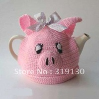 Free Shipping---Stylish Hand Made Knitted Litty Piggy Tea Cosy