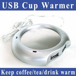 Free Shipping USB Cup Warmer keep your coffee/tea/drink warm(China (Mainland))
