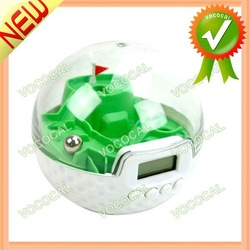 Funny Golf Game Toy Plastic Electronic Digital Table Desk Alarm Clock, Free Shipping, Mini Order 1 pcs(China (Mainland))