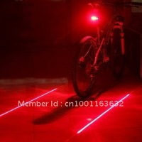 Discount 50% 10Pcs/lot Bicycle Cycling Laser Beam led Bike rear Tail light Free Shipping