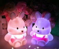 turnip rabbit golwing night light toys for children