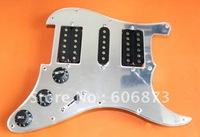 H-S-H Mirror Veneer Guitar Loaded Prewired Pickguard For ST Electric Guitar