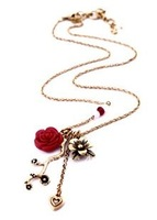 Free Shipping & Wholesale vintage LB lucky flower antique necklace, vintage, retro, antique jewelry