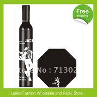 DHL Free Shipping Wholesale 10pcs/Lot Michael Jackson Black/White Color  Bottle Umbrella Wine Bottle Umbrella 3-Folding Umbrella