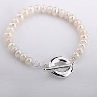 H230 Wholesale simulated pearls 925 Silver Bracelets prata perle pulseras bijouterie women Mujer spring 2014