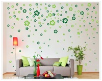 [432pcs(4colors)/set Flowers]Removable wall stickers for living room sofa wall bedroom romantic marriage room